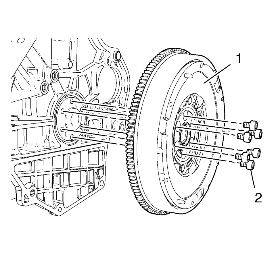 Chevrolet Sonic Repair Manual: Engine Flywheel Removal
