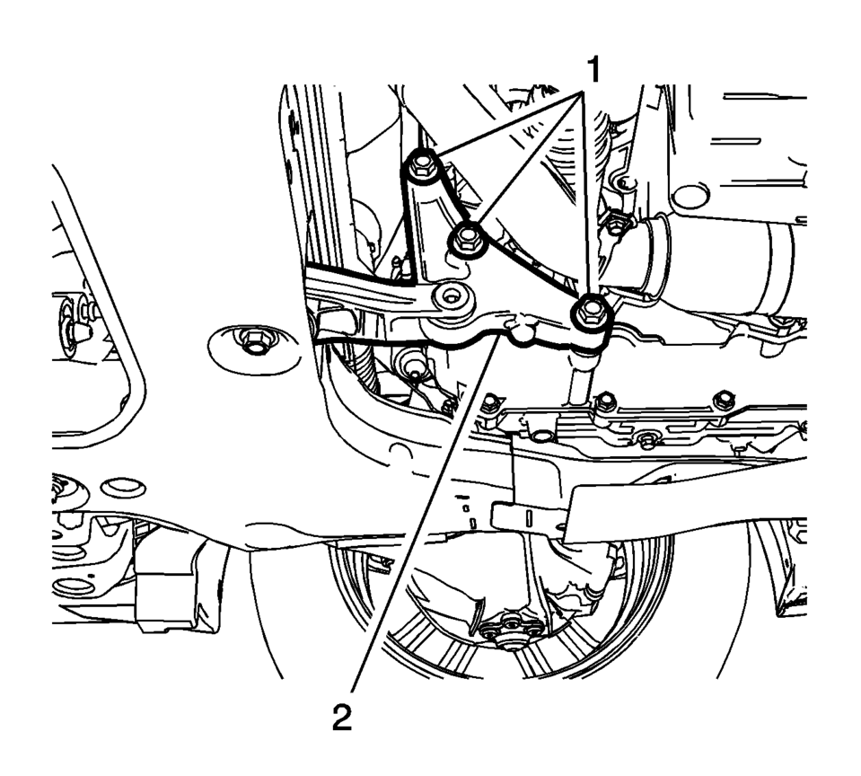 Chevrolet Sonic Repair Manual: Transmission Mount Bracket
