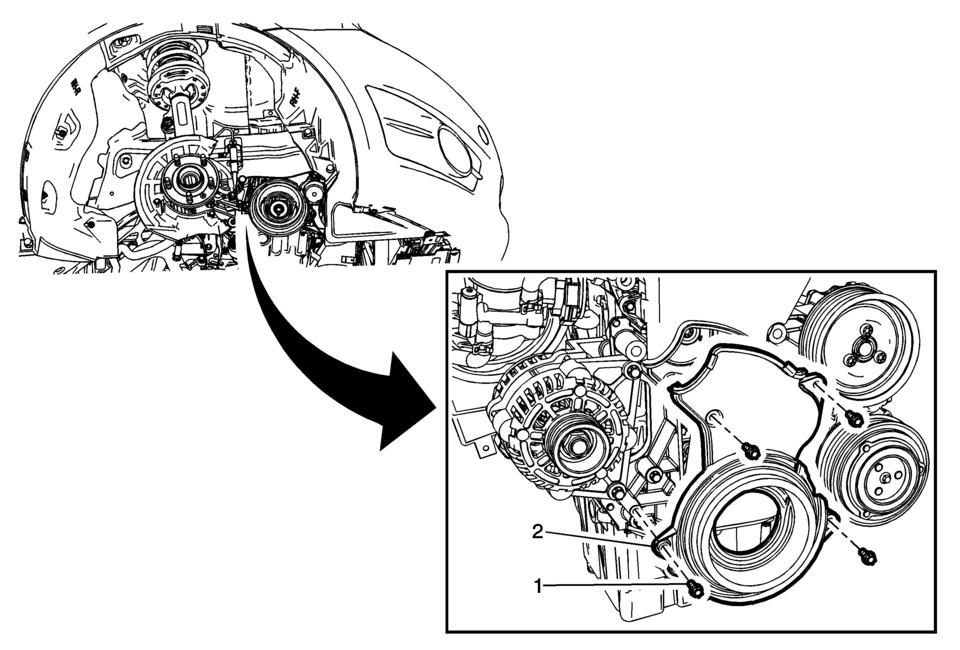 Chevrolet Sonic Repair Manual: Timing Belt Lower Front
