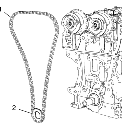 install the timing chain 1 and crankshaft sprocket 2 together as a unit  [ 960 x 916 Pixel ]