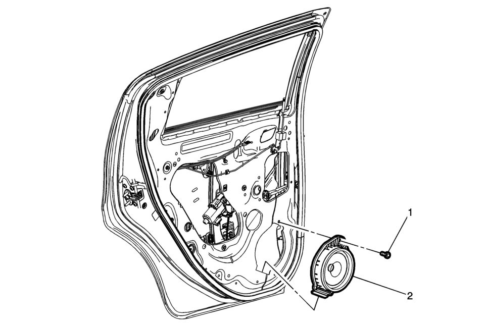Chevrolet Sonic Repair Manual: Radio Rear Side Door
