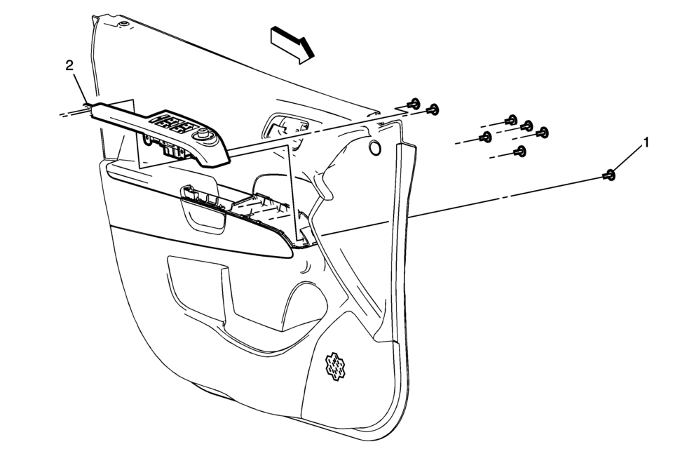 Chevrolet Sonic Repair Manual: Front Side Door Window