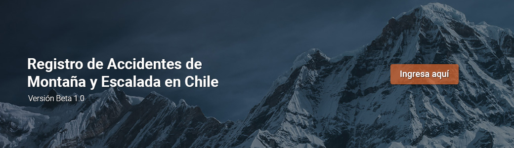 Registro de Accidentes de Montaña y Escalada en Chile