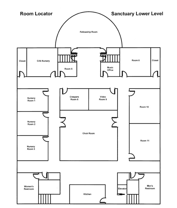 Arden Presbyterian Church: Arden, NC > Facility Map