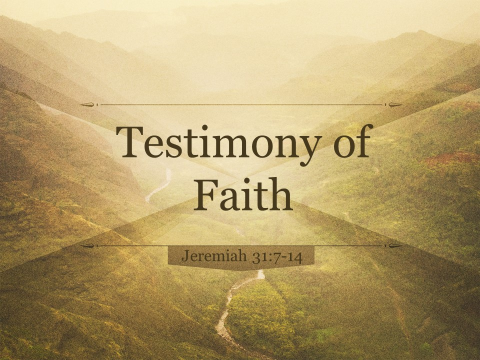 St. Paul's Evangelical Lutheran Church: Maumee, OH > Testimony of Faith