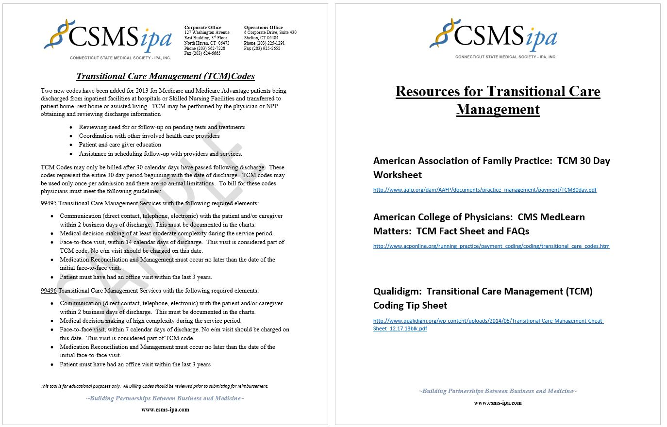 Transitional Care Management Worksheet