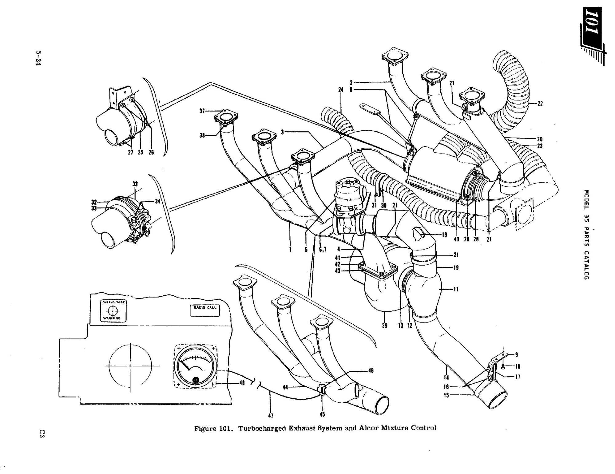 hight resolution of  designed and introduced the turbo charged bonanzas below is a diagram of the t c exhaust system applicable to the tsio 520d in v35tc v35atc v35btc