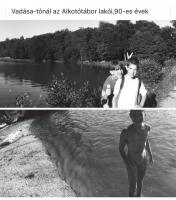 Vadása tónál az Alkotótábor lakói ('90-es évek)
