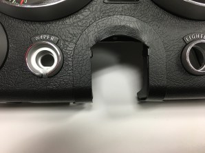 Closeup of filler installed.