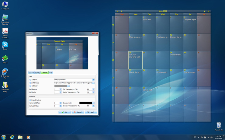 Get the naughty goose on your desktop. Interactive Calendar - free desktop calendar software and ...