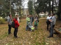 Komentovaná exkurze po arboretu při představování průvodce