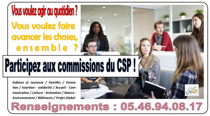 Participez aux commissions du CSP