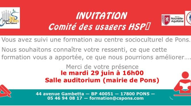 Comité de suivi HSP