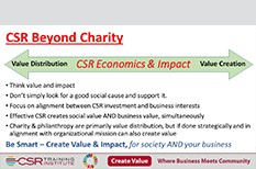 CSR is About More Than Donating to Charity