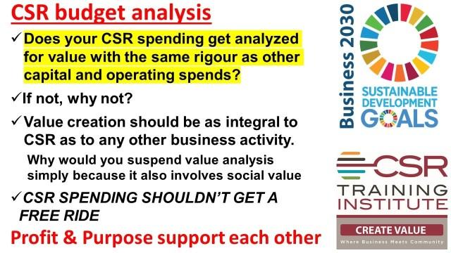 CSR budget analysis