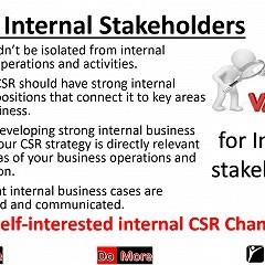 CSR & internal stakeholders