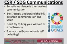 CSR Communications: Sometimes silence speaks the best