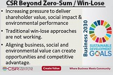 Get past zero-sum win-lose and embrace aligned value and impact