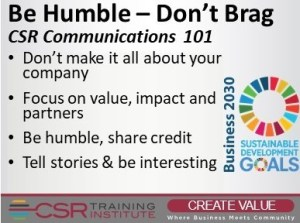 CSR Communications: Be Humble, Don't Brag
