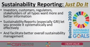 Sustainability Reporting: JUST DO IT