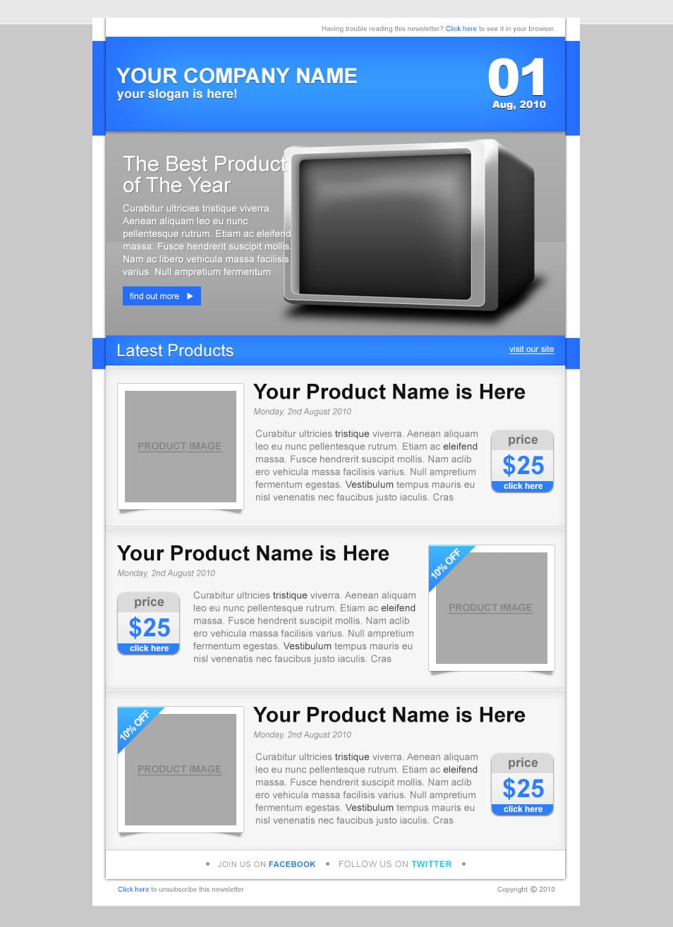 free newsletter templates download