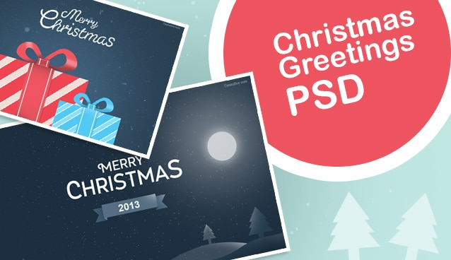 Free Christmas Greeting Cards PSD Free Greetings PSD