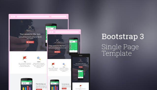 Bootstrap 3 Single Page Template  Free Html Template