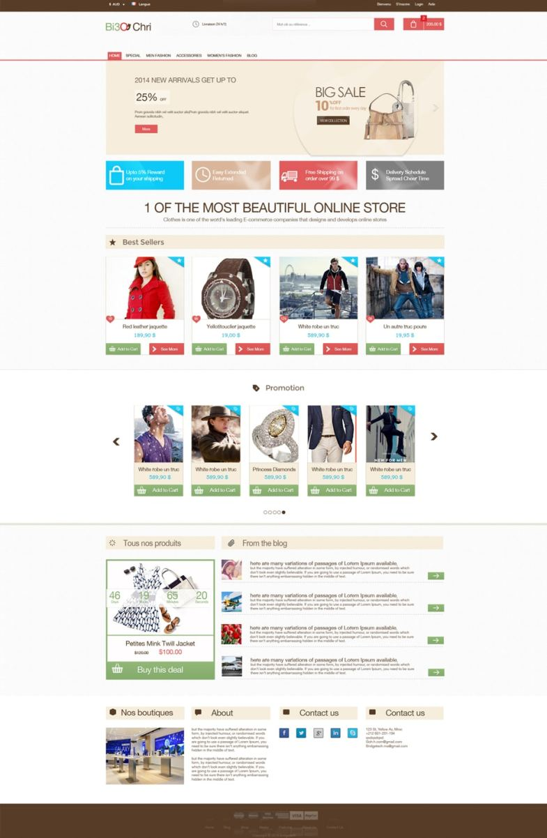 Free E-commerce Template PSD