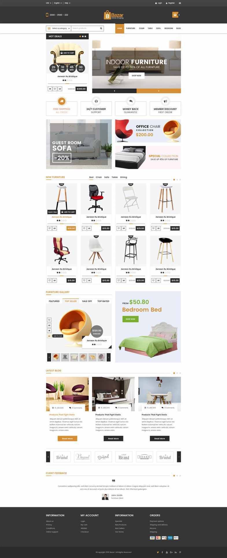 Bazar E Commerce Web Template PSD Бесплатные шаблоны для интернет-магазина psd - Bazar E Commerce Web Template PSD - Бесплатные шаблоны для интернет-магазина PSD