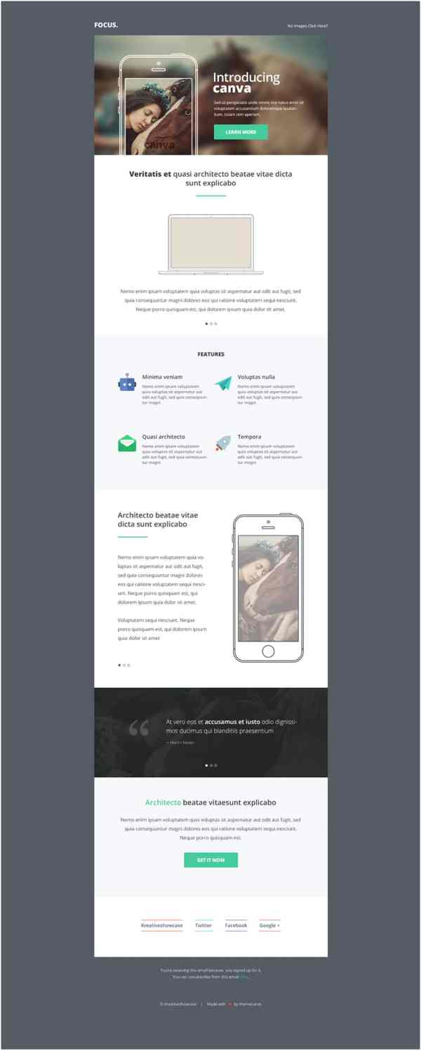 Free Email Templates Psd Css Author