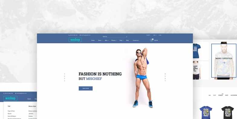 Free Creative Multipurpose E-commerce Web Template PSD