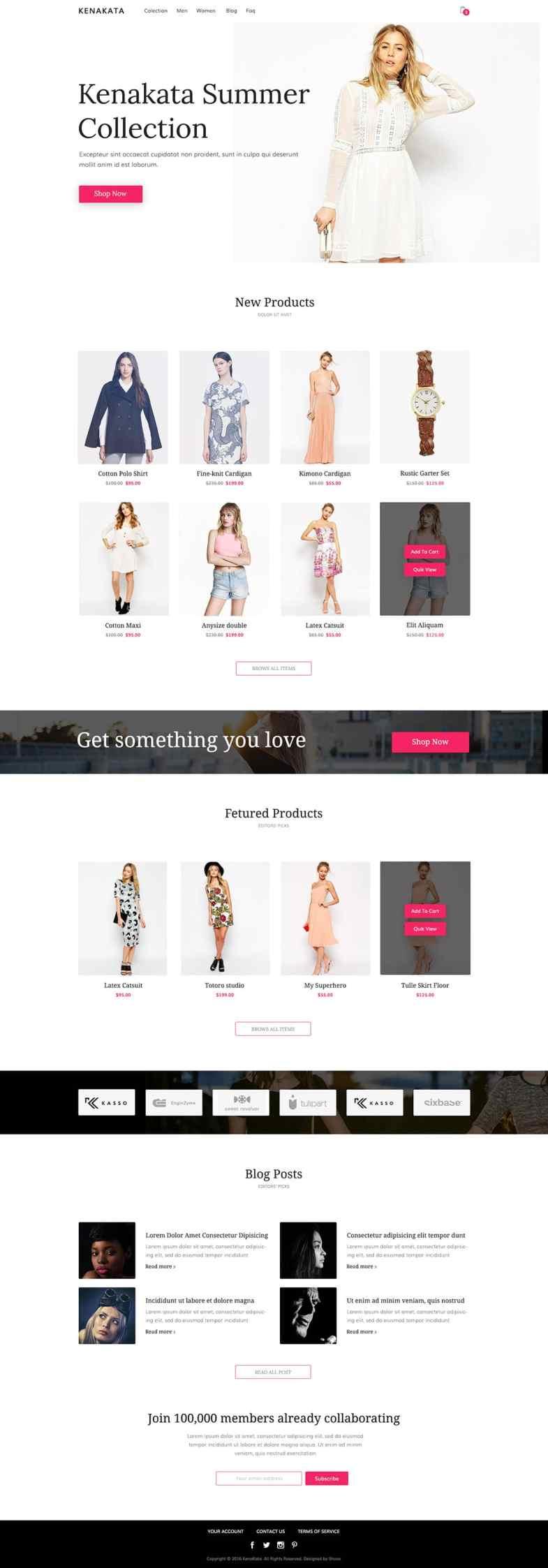 Kenakata - Free eCommerce Bootstrap Template Бесплатные шаблоны для интернет-магазина psd - Kenakata - Бесплатные шаблоны для интернет-магазина PSD