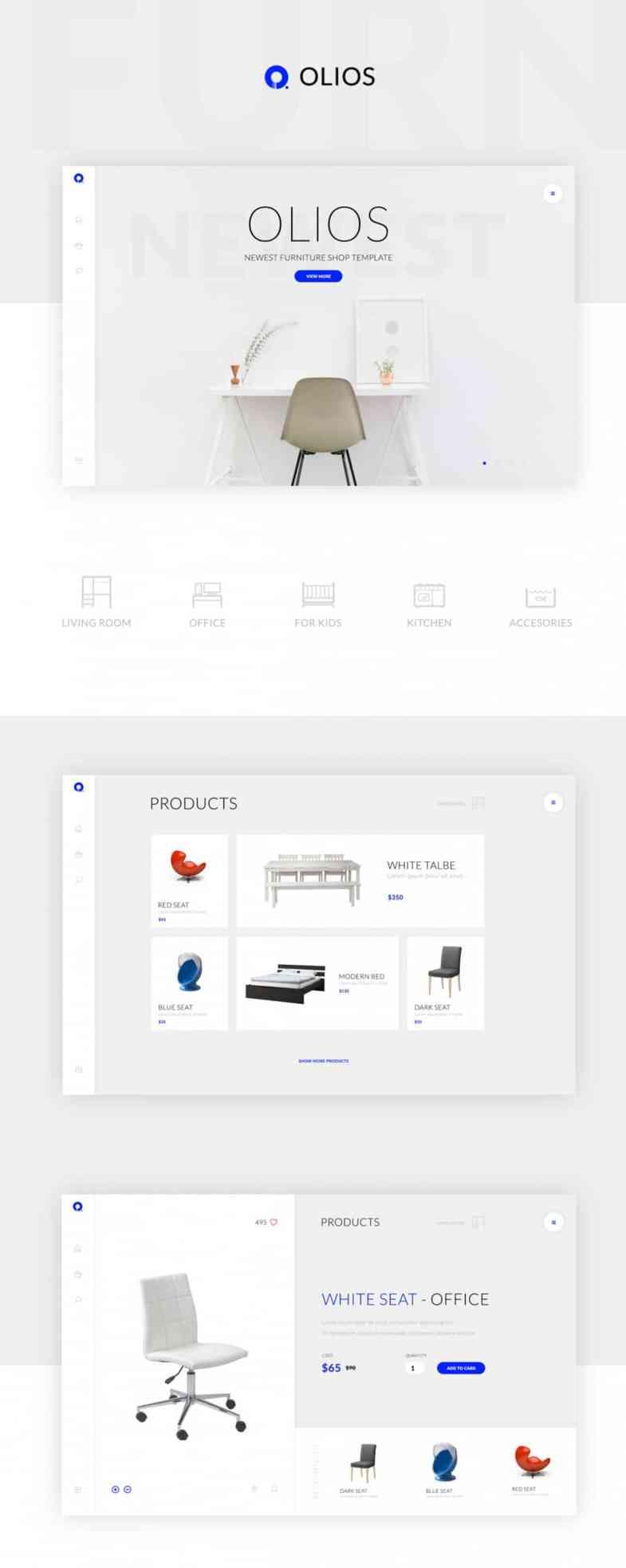 Olios Бесплатные шаблоны для интернет-магазина psd - Olios - Бесплатные шаблоны для интернет-магазина PSD