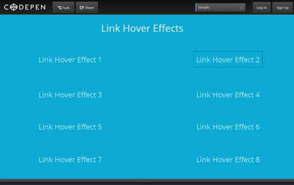 Codepen Menu Hover Effects