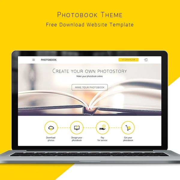Photobook Theme Бесплатные шаблоны для интернет-магазина psd - Photobook Theme - Бесплатные шаблоны для интернет-магазина PSD