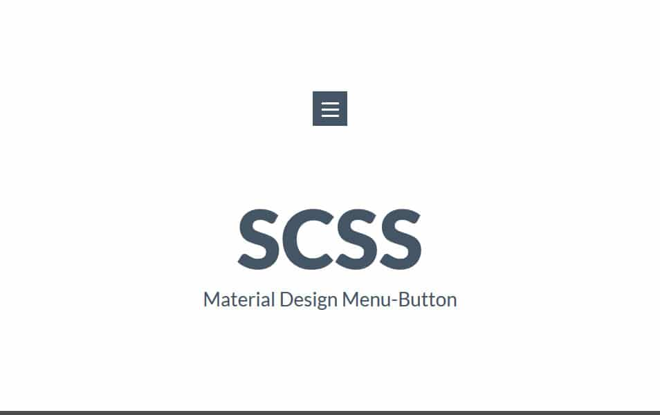 Configurable animated Material Design Menu Button