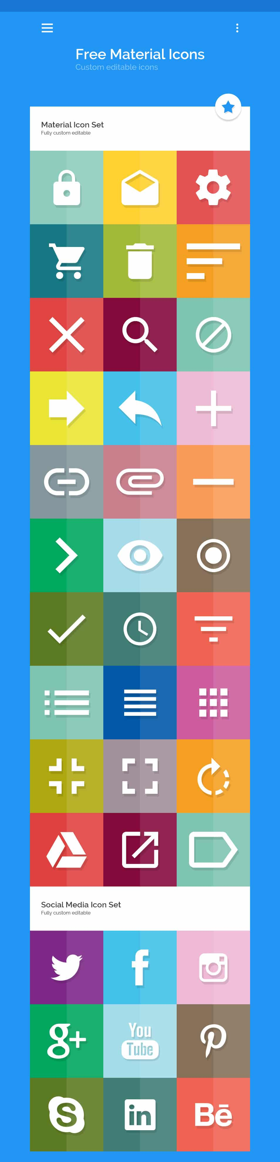 Free Material Icon Set