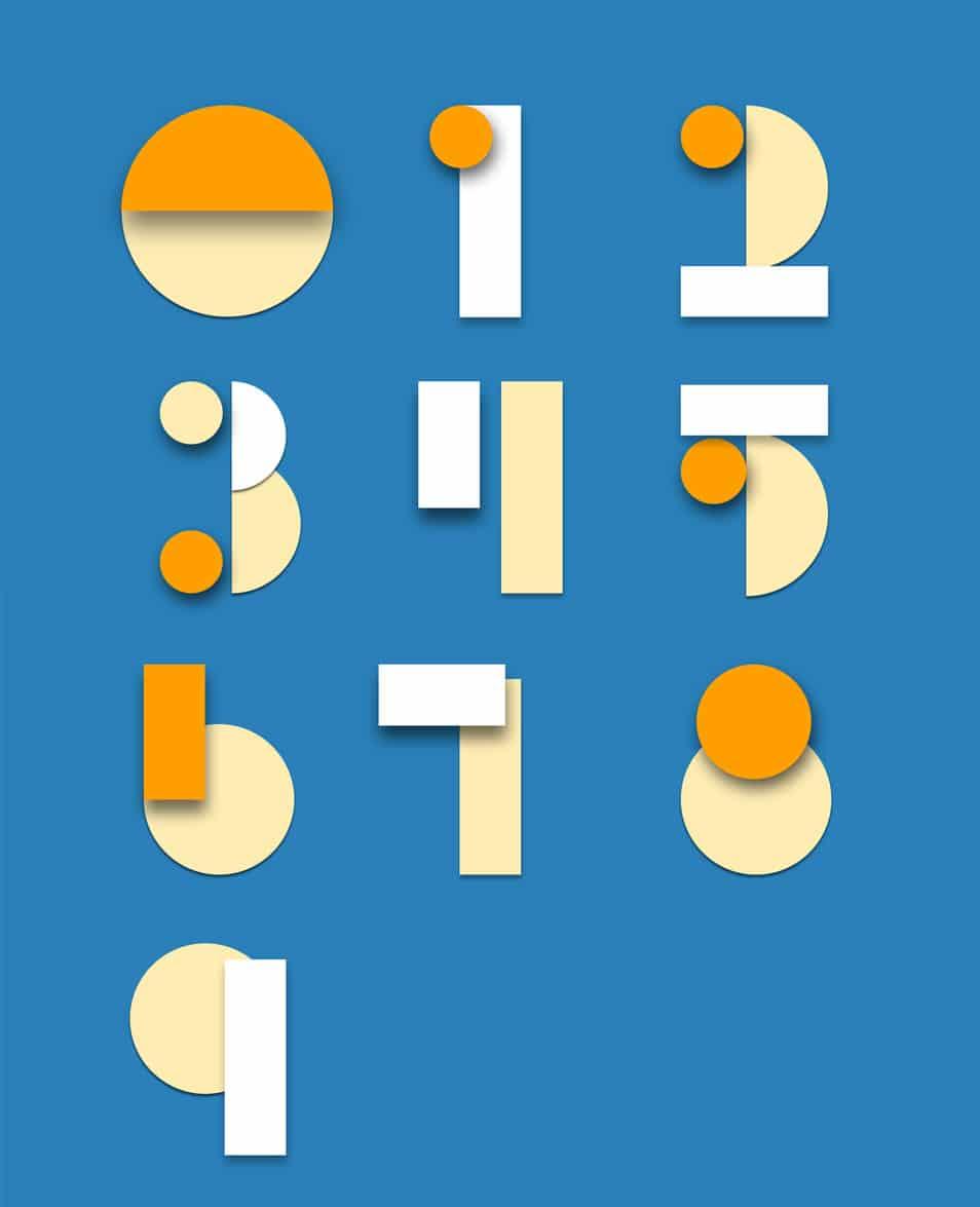 Material Design Psd Numbers