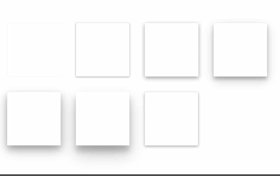 Material design card effect