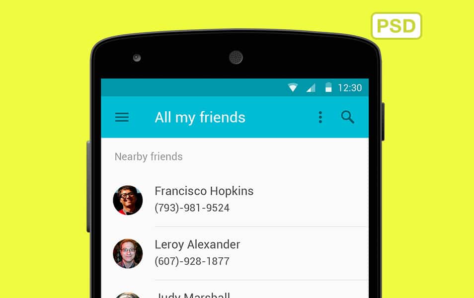 New Android L Interface