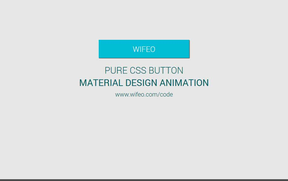 PURE CSS MATERIAL DESIGN BUTTON