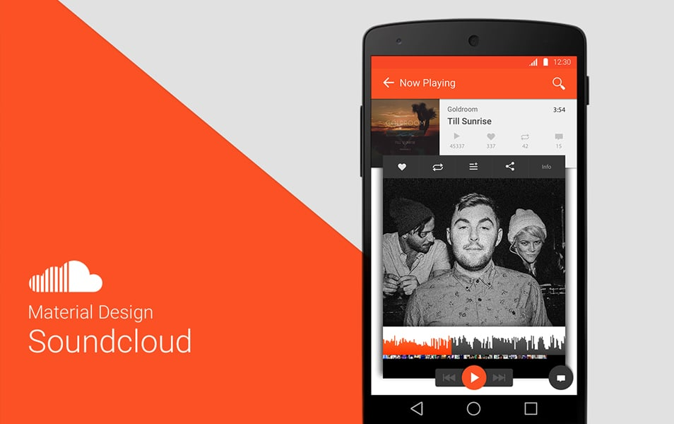 Soundcloud Material Design