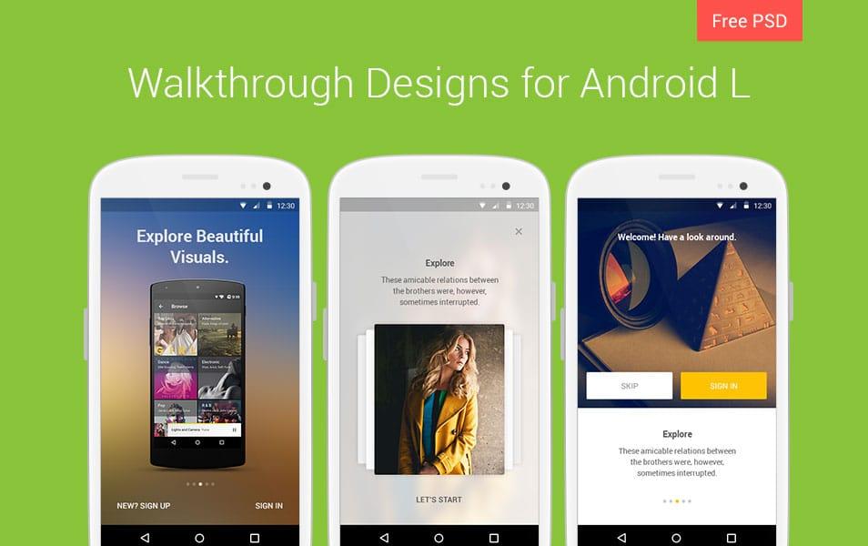 Walkthrough Design for Android L