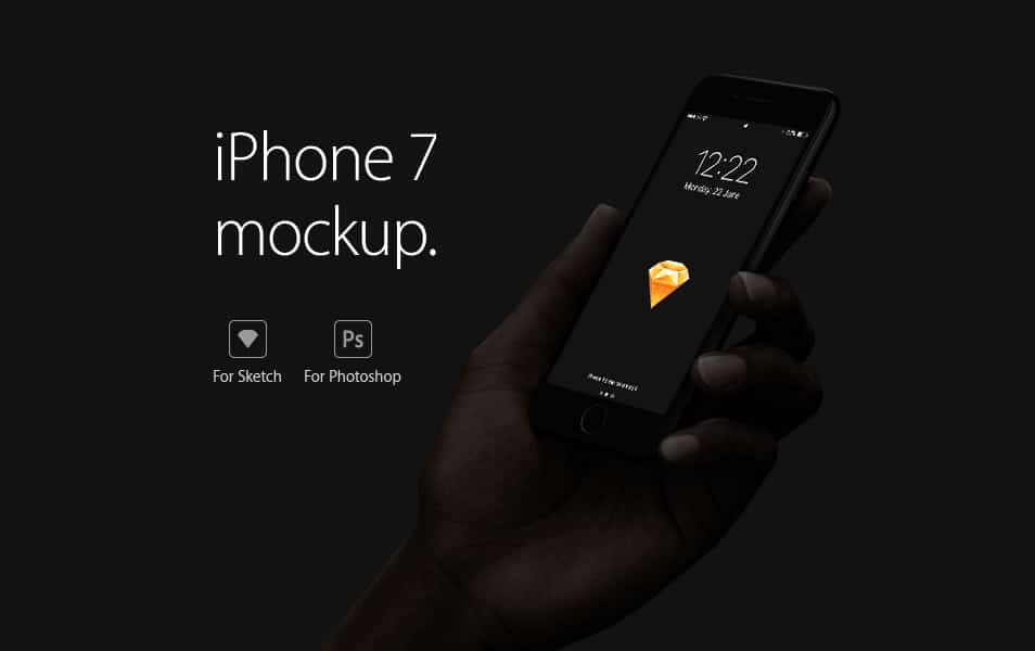 iPhone 7 Mockup for Sketch and Photoshop