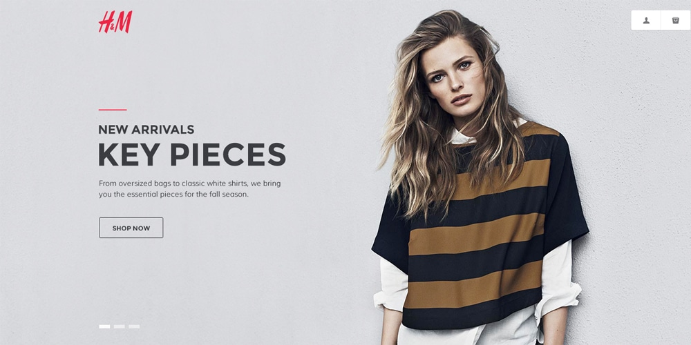 H&M Homepage Redesign