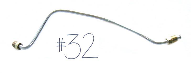 1963-64 (C2) Corvette Brake Line: Rear Right Drum