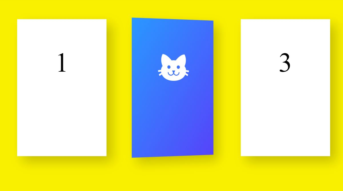 CSS Animated Flippy Cards Design