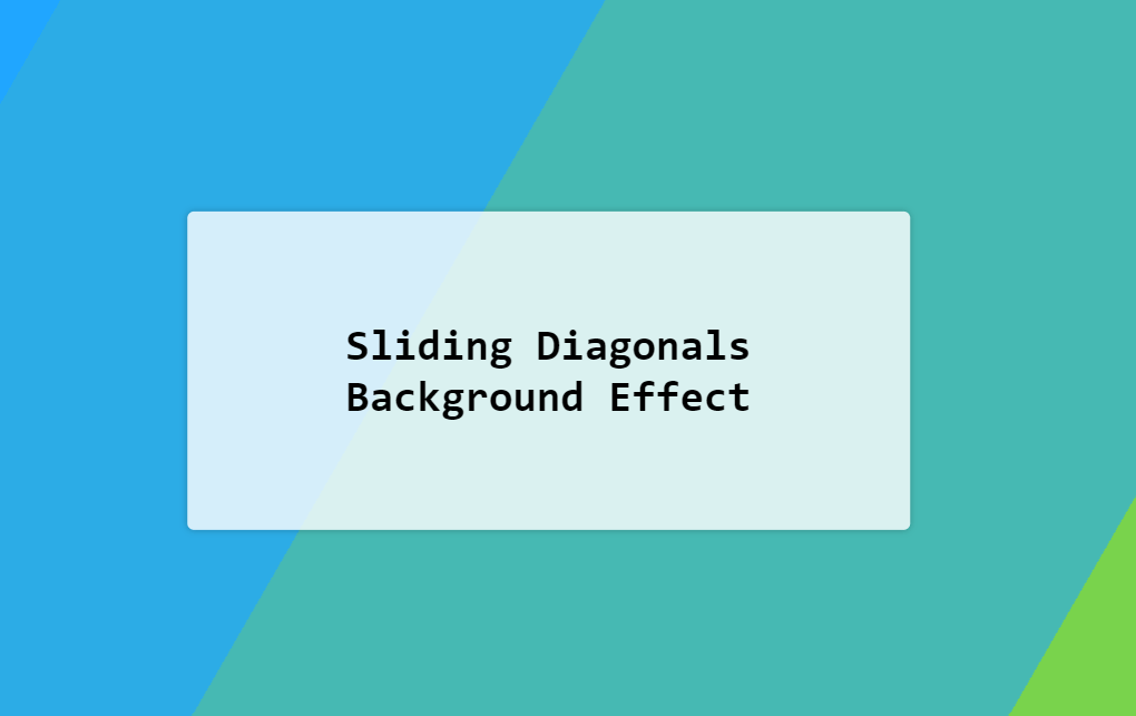 Animated Sliding Diagonals Background CSS Effect