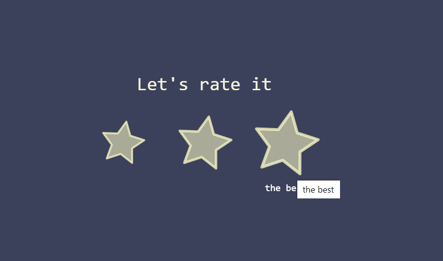 Animated Stars Rate Button in Pure CSS