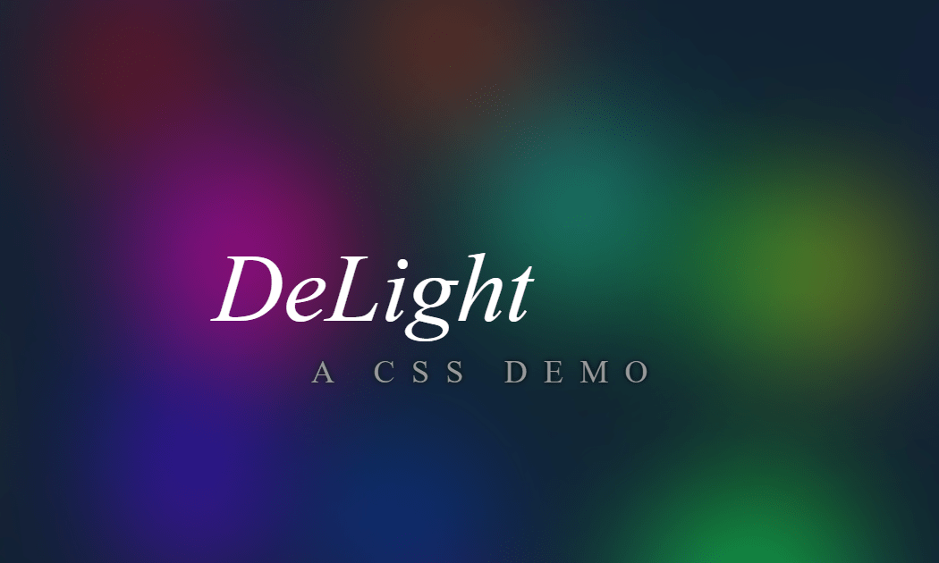 Awesome CSS Zero Element DeLight Background Source Code
